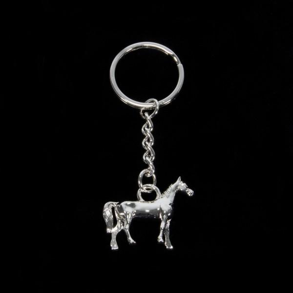 Anhänger Schlüsselanhänger Pferd versilbert