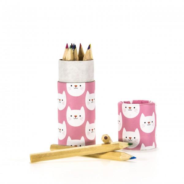 Buntstifte Katze Cookie The Cat pink