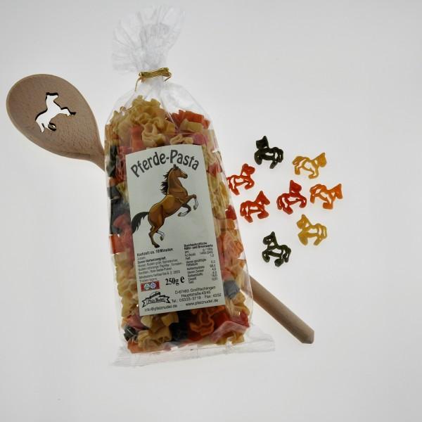 Geschenkset Pferdepasta+Kochlöffel Pferdemotiv