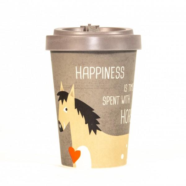 Becher togo Bambus Pferd Happiness&Horses 3teilig