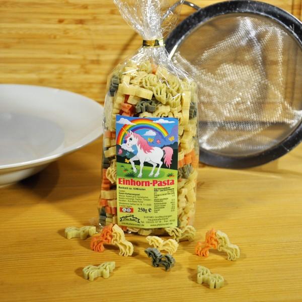 Nudeln Einhorn Pasta bunt