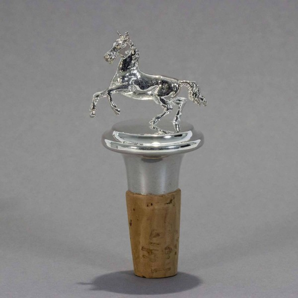 Flaschenkorken Pferd versilbert