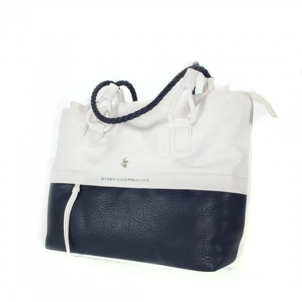 Beverly Hills Polo Club Tasche groß weiß/blau Schultertasche