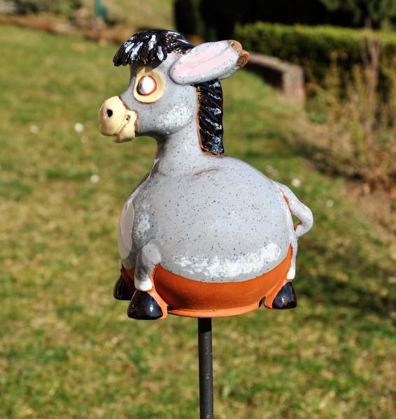 Gartenkugel Esel
