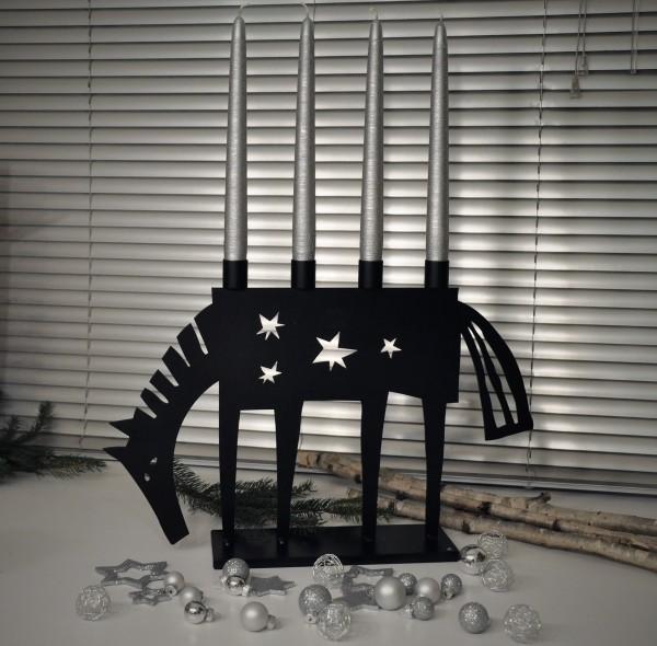 Kerzenständer Dala Pferd 4 Kerzen