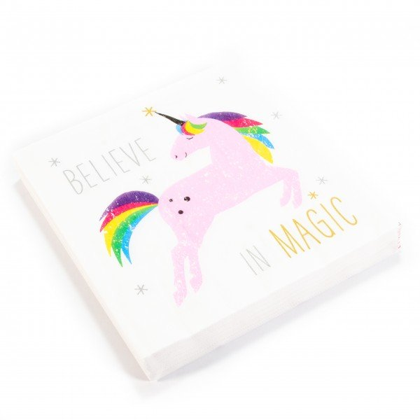 Servietten Pack Einhorn White Unicorn