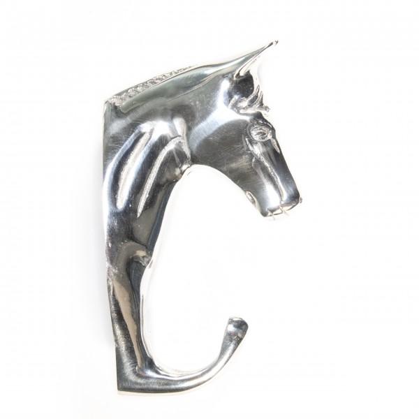 Wandhaken mit Pferdekopf 1 Haken aus Aluminium