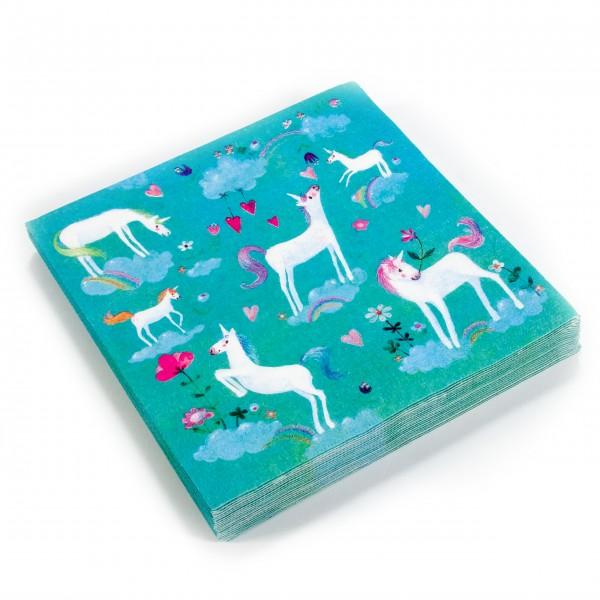 Servietten Pack Einhorn Unicorn grün