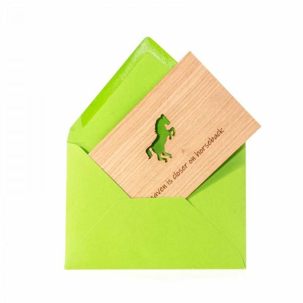 Geschenkkarte Pferd Holz