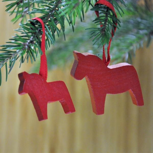 Anhänger Dala Pferd 2er Set rot