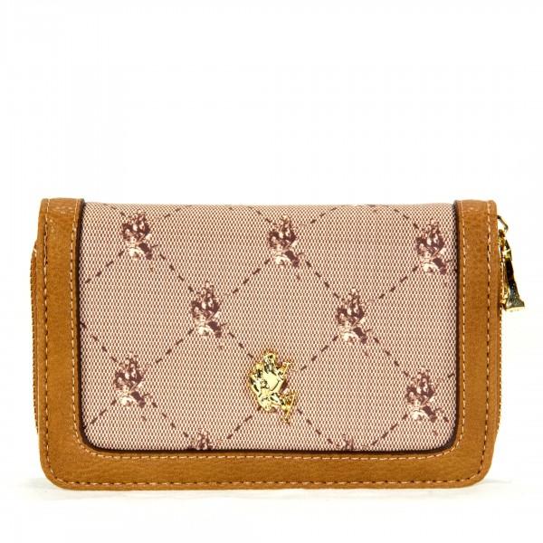 U.S. POLO ASSN. Portemonnaie Damen beige braun
