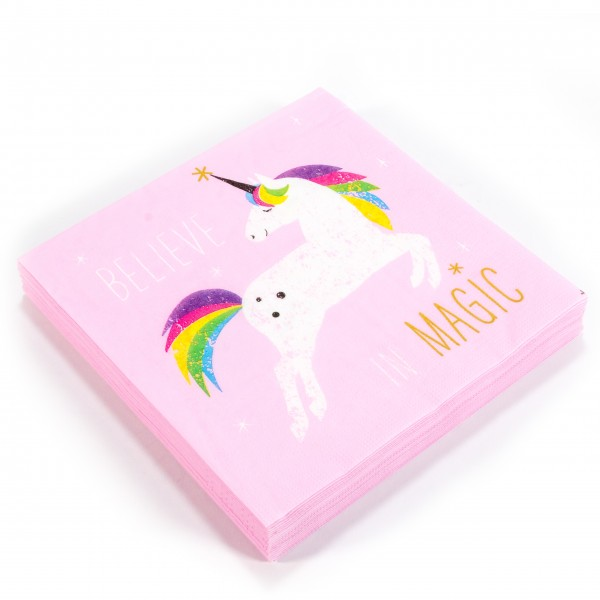 Servietten Pack Pink Unicorn