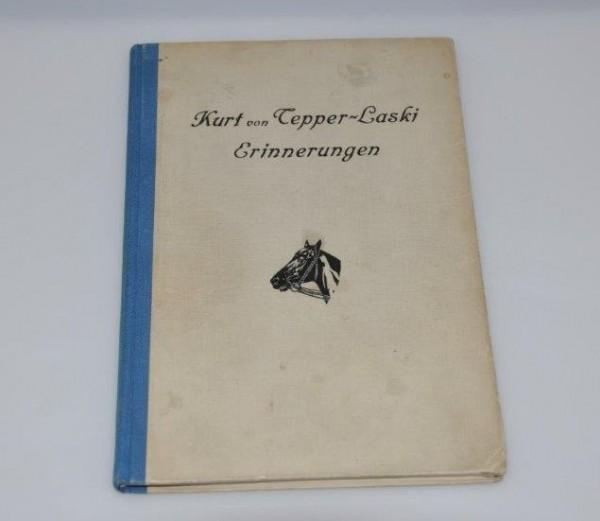 """Antiquariat Kurt von Tepper-Laski """"Erinnerungen"""""""