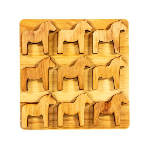 Untersetzer Holz Dala Pferd Skandinavian design