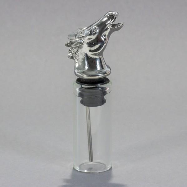 Flaschenausgießer Pferd aus Edelstahl