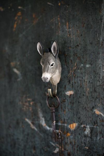 Wandhaken Holz Esel