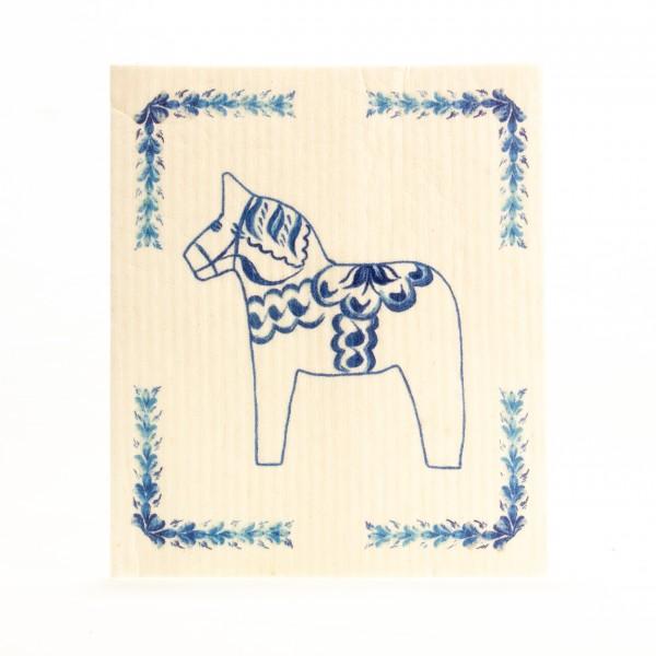 Spültücher Dala Pferd Skandinavian design blau