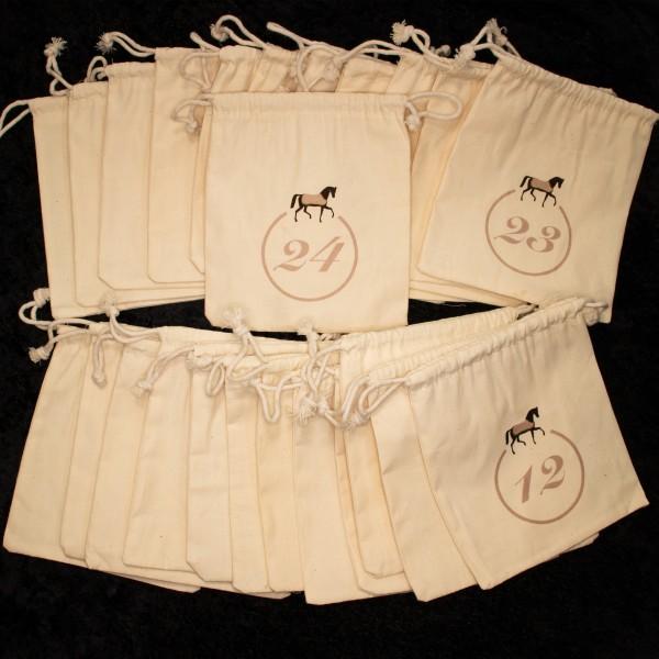 Baumwollsäckchen für Adventskalender