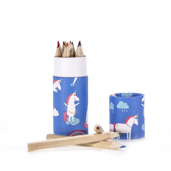 Buntstifte Einhorn Magic Unicorn blau