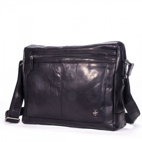 Beverly Hills Polo Club Laptoptasche Leder schwarz