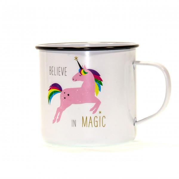 Tasse Metall Magic Unicorn pink