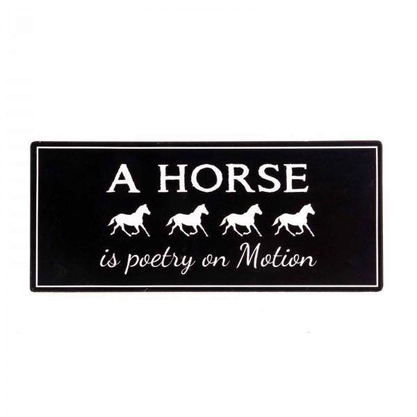 Schild Pferdespruch englisch