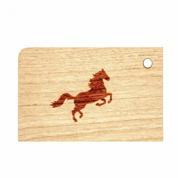 Geschenkanhänger Pferd Holz