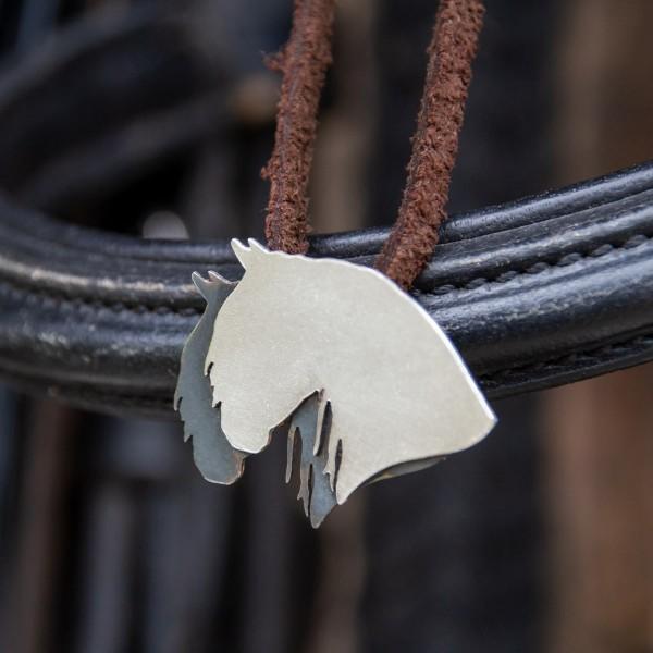 Anhänger Silber Pferdekopf mit Kette