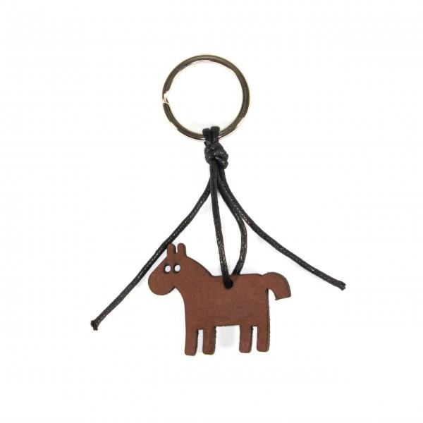 Anhänger Schlüsselanhänger Leder Pferdemotiv