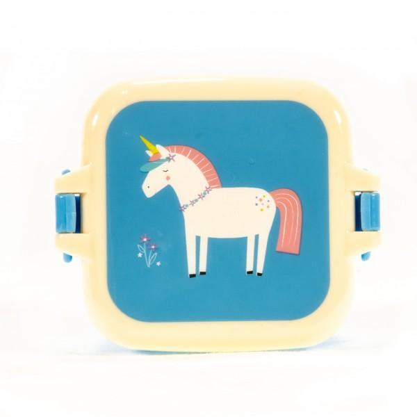 Snackdose klein Einhorn Magic Unicorn blau