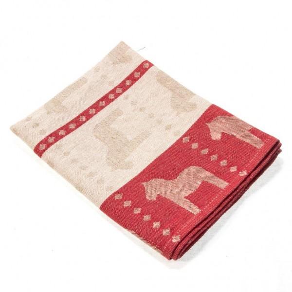 Geschirrtuch Dala Pferd Skandinavian design rot