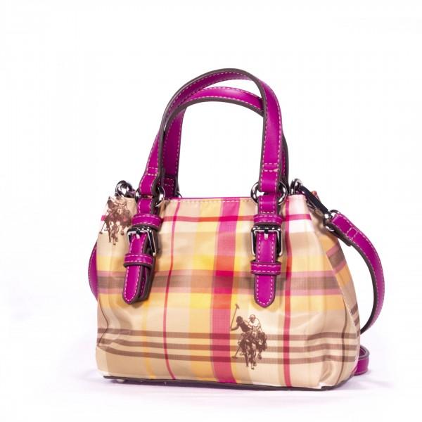 U.S. POLO ASSN. Mini Handtasche Henkeltasche pink