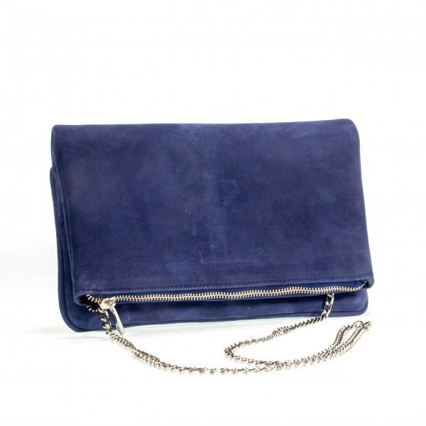 Gallucha Tasche mittel Nubukleder königsblau