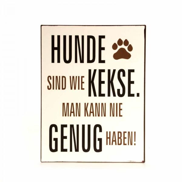 Schild Spruch Hund
